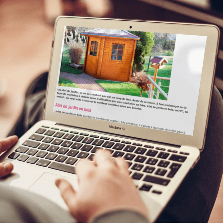 Article sur l'abri de jardin pour le Salon Viving - Agence Rhapsodie Brest